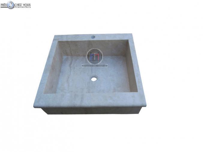 Bricolage Travertin Classique Beige Evier 70 X 50 Cm Var Pres2chezvous